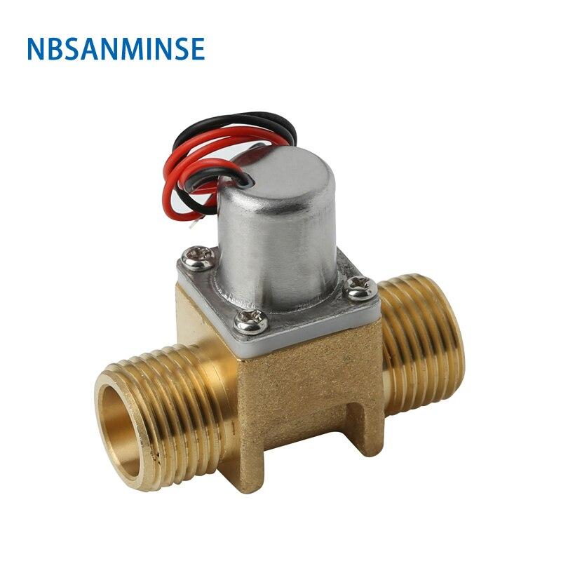 Válvula de solenoide de pulso NBSANMINSE SM211, válvula de solenoide biestable G1/2 pulgadas DC3.6V 6,5 V, para grifo de baño, artículos sanitarios de inducción