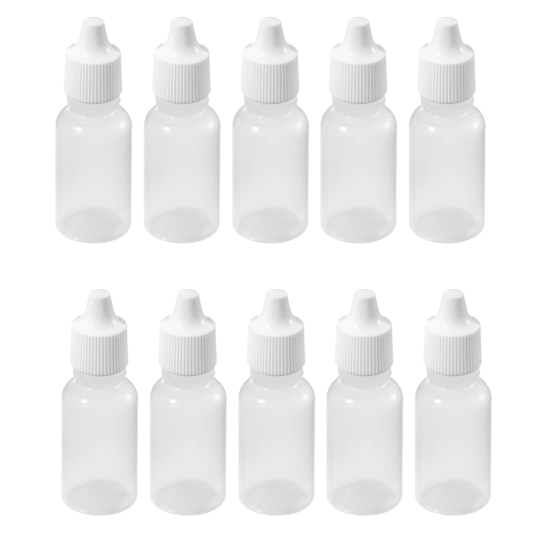 10 Pcs 10 ML 1/3 UNZEN LDPE Kunststoff Kindertropfflaschen Öl Lotion