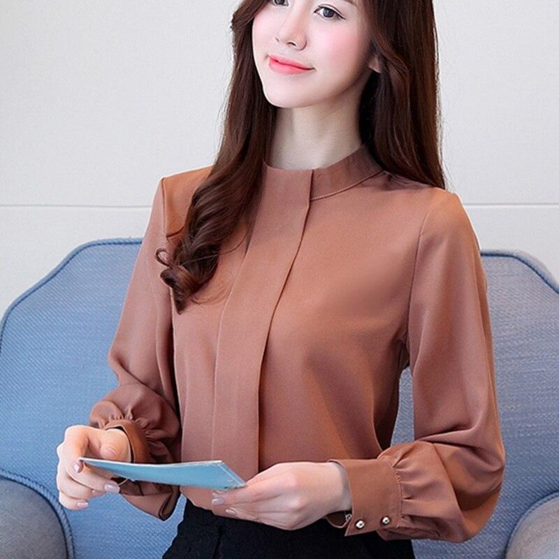 Nueva Blusa de chifón de manga larga para primavera y otoño para mujer, camisas de moda para mujer, Blusa informal femenina de talla grande, camisa para mujer 93j