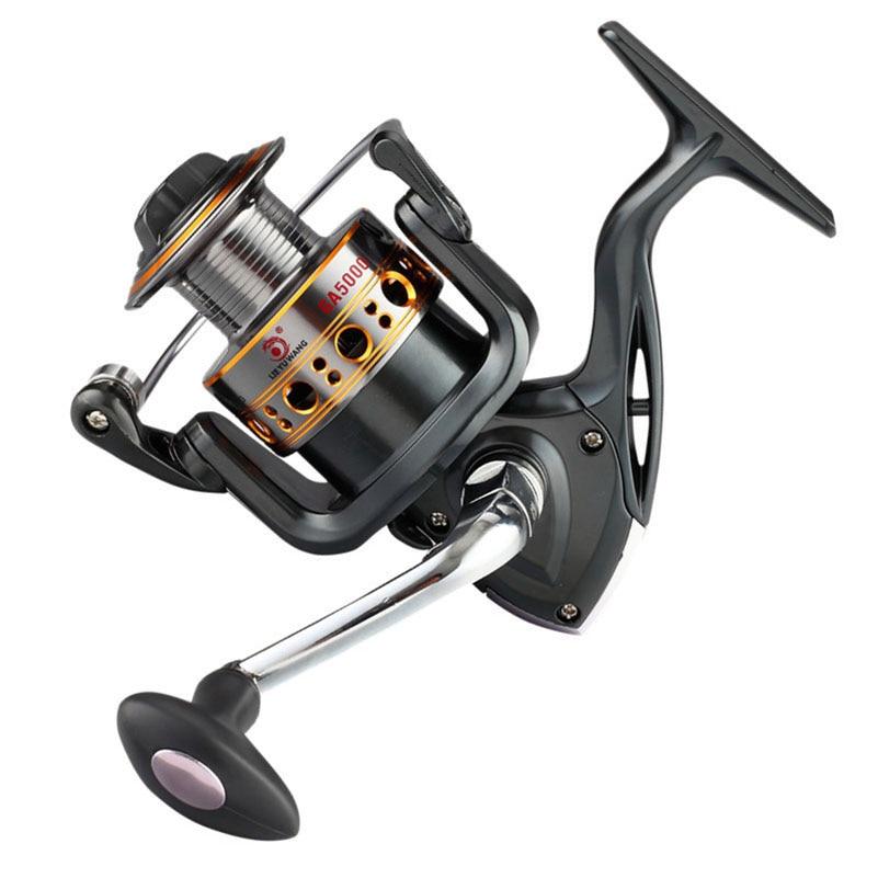 YUYU Metal Fishing Reel Spinning Reel for ocean metal spool 500 1000 2000 3000 4000 5000 7000 12+1BB 5.21 sea Fishing wheel