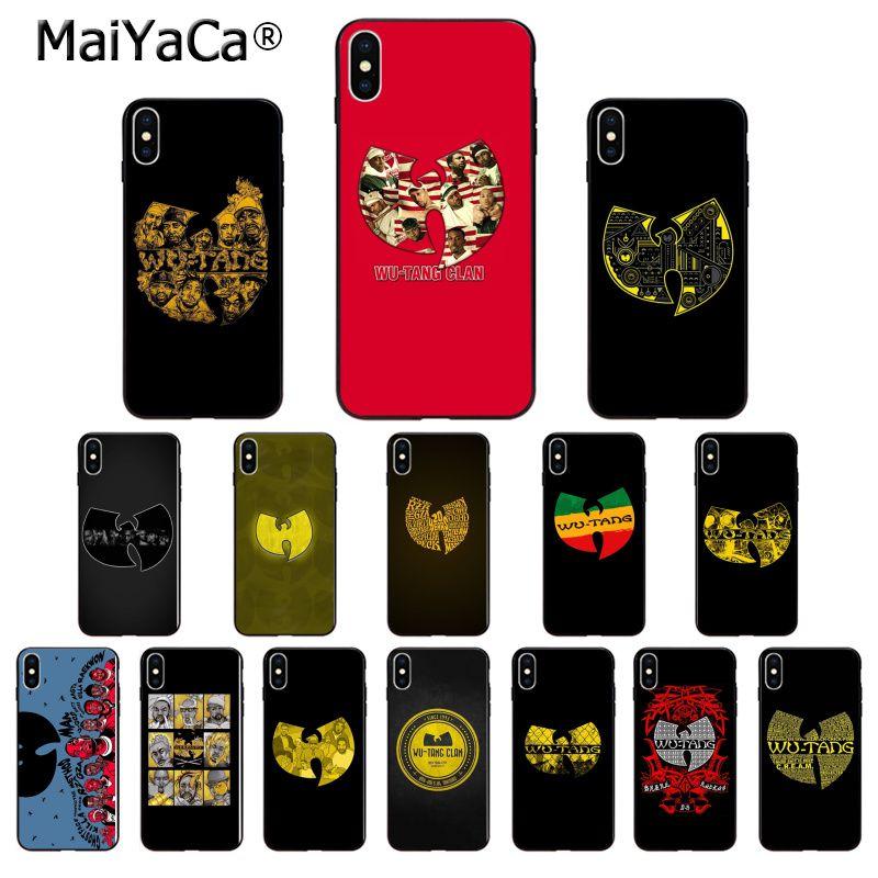 MaiYaCa Wu Tang Clan de silicona suave TPU teléfono negro teléfono caso para Apple iPhone 7 6 6S Plus X XS X MAX 5 5S SE XR móvil