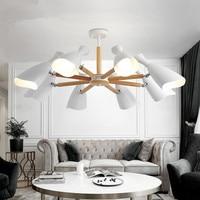 New Arrival Chandelier Lighting For Living Room LED Chandeliers Wooden Lustres E27 Kitchen Lights Indoor Hanging Light