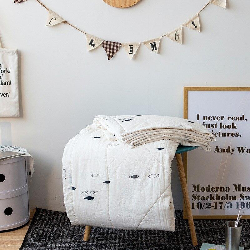 Edredón de algodón de verano con dibujos geométricos de 200x230cm, colchas acolchadas para niños, ropa de cama para adultos, mantas de aire acondicionado
