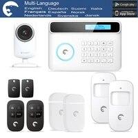 GSM PSTN camera IP systeme dalarme   Plusieurs langues  avec systeme dalarme a domicile