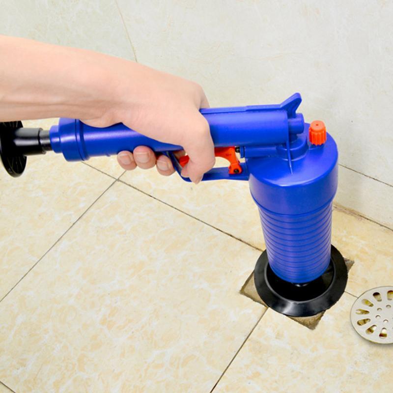 De alta presión de drenaje de aire Blaster limpiador tubería de alcantarillado de dragado dispositivo neumático baño cocina drenaje de piso Blaster con cuatro enchufes