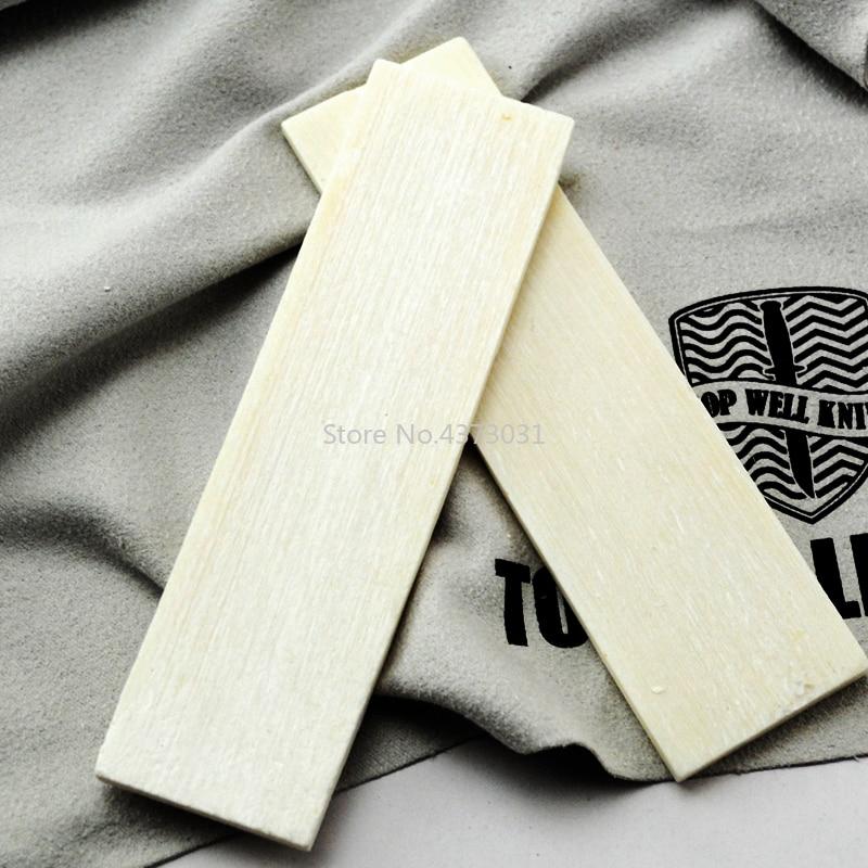 2Pcs DIY Knife handle Material Bovine bone patch for Knife handle Produce material 95x25x4mm