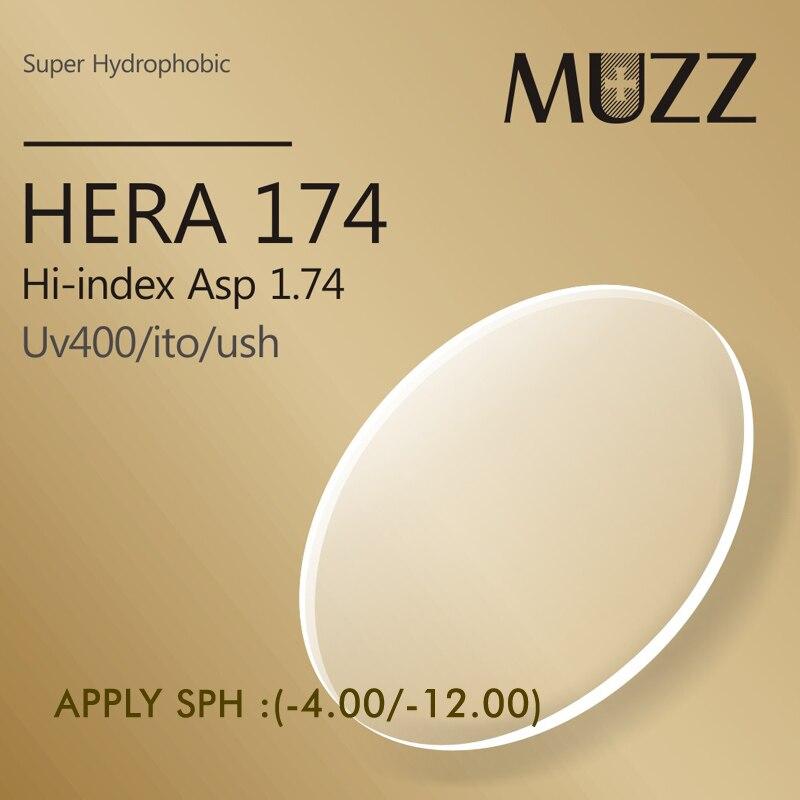 MUZZ lente de gafas de ojos 1,74 índice más delgado, más ligero de alta calidad miopía Super resistente resina óptico prescripci