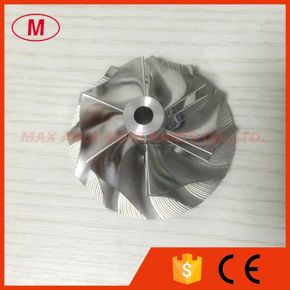 RHF55 48.62/65.00mm 6+6 blades Turbo aluminum 2618/milling/ Billet compressor wheel