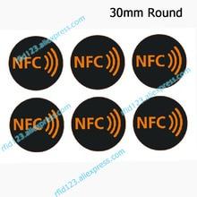 NFC Aufkleber Protokoll ISO14443A 13,56 MHz NTAG213/NTAG215/NTAG216 Universal Label RFID Tags und Alle NFC Telefon