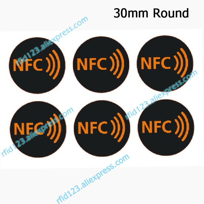NFC наклейки протокол ISO14443A 13,56 МГц NTAG213/NTAG215/NTAG216 универсальная Метка RFID метки и все NFC телефон