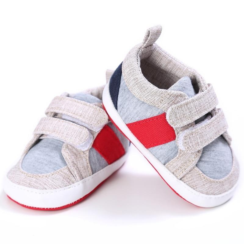 Детские кроссовки для маленьких мальчиков, хлопковые, с мягкой подошвой, для детей ясельного возраста, повседневная обувь для новорожденно...