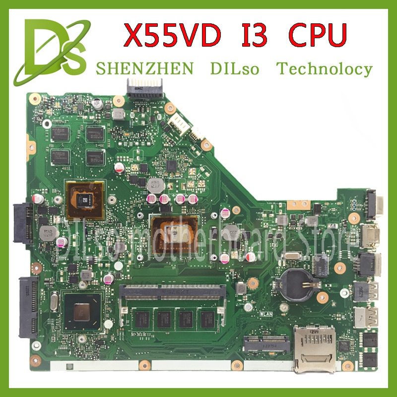 KEFU X55VD для ASUS X55VD материнская плата для ноутбука с процессором i3 с тестом на видеокарту