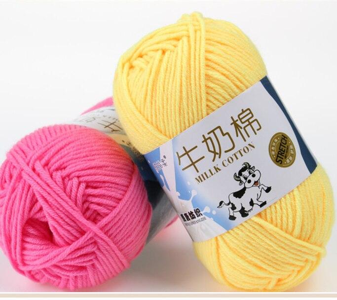 10 Stücke 500 gr/los Baumwolle Stricken Garn Häkeln Garn für Stricken Weiche Glatte Natürliche 81 Farben Freies Verschiffen