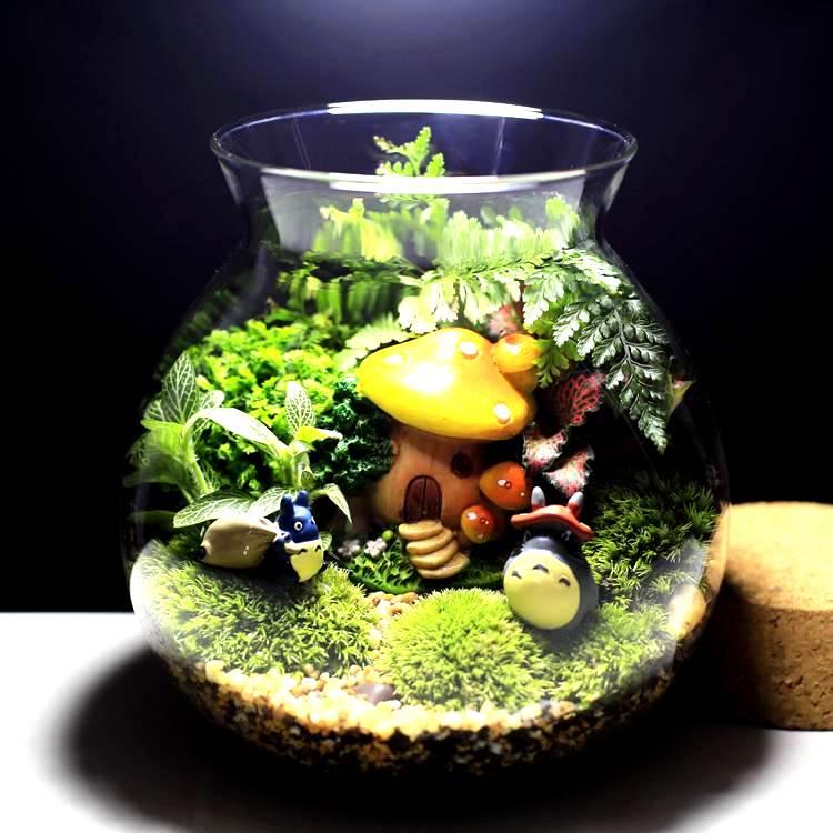 1piecemini Green Artificial Moss Stones Grass Bryophytes Home Garden Bonsai Decoration For Micro-landscape decoration
