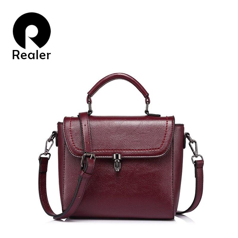 Bolso de mujer REALER, bandolera de moda para mujer, bolsos de hombro tipo bandolera de alta calidad para mujer, bolso de señora de diseño, marcas famosas