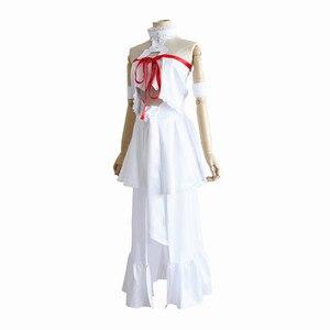 brdwn Sword Art Online womens Yuki Asuna Cosplay Costume dress (tops+skir+armband+Headwear+Leggings)