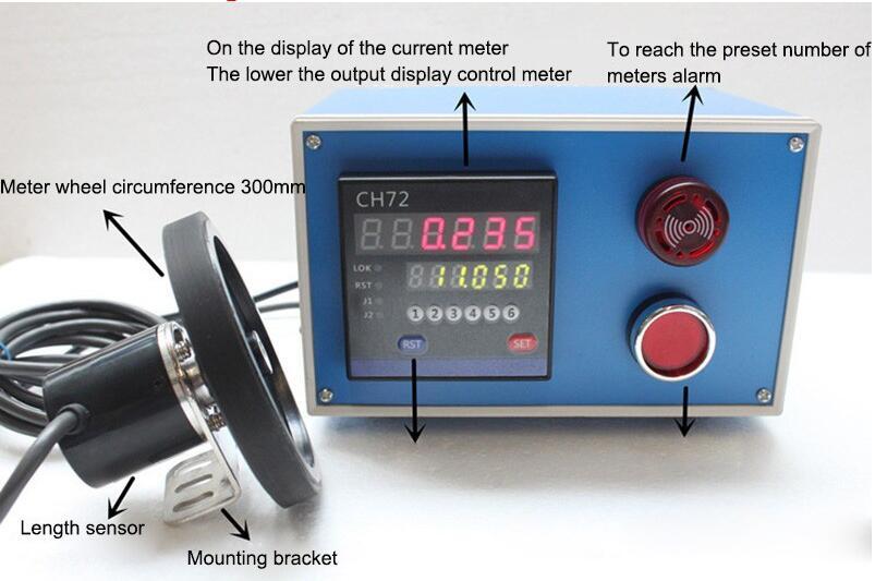 الإلكترونية الرقمية متر الإلكترونية التشفير الرقمي عداد طول عجلة لفة طول جهاز القياس ماكينة اختبار طي قضبان الفولاذ