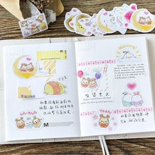 45 Pcs / Box Cute Egg Treasure Paper Sticker DIY Decoration Stickers Diary Photo Album Scrapbooking Planner Label Stickers