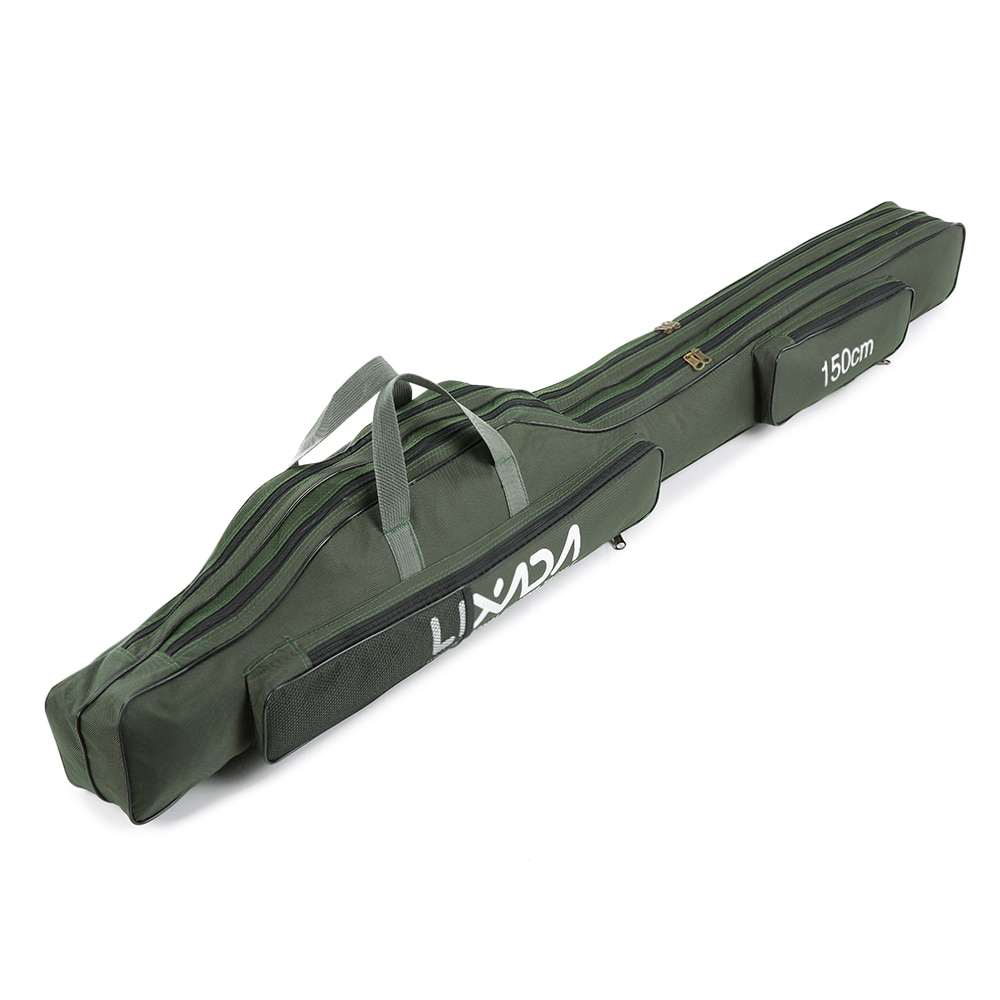 Lixada, bolsa de pesca plegable portátil de 80cm/100cm/130cm/150cm, bolsa de carrete para caña de pescar, equipo para caña de pescar, caja de transporte de herramientas