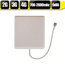Antenne de téléphone portable 700 mhz-2700 hz GSM 2G 3G 4G LTE N Type 9dBi Gain panneau intérieur antenne de téléphone portable interne pour Booster de Signal