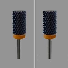 2pcs  Black Ceramic Nail Drill Bit -  Large Barrel Bit XXC