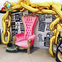 Ballons bricolage chaîne or style Rap hip hop   Grands ballons pour la danse Disco, décorations de fête danniversaire et de mariage, ballon argent noir rouge