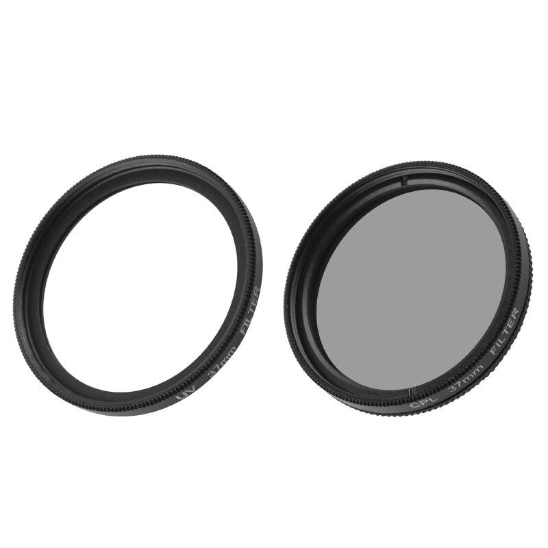 Guigpro  UV CPL 37mm Circular Polarizer Lens Filter+Lens Adapter+Protective Lens Cap For Xiaomi yi 2 4K  Xiaoyi 4K Action Camera enlarge