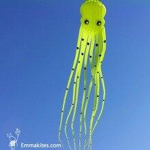 Jouet extérieur 15M grand cerf-volant 3D en forme de Tube Parafoil pieuvre cerf-volant Ripstop Nylon tissu doux cerf-volant