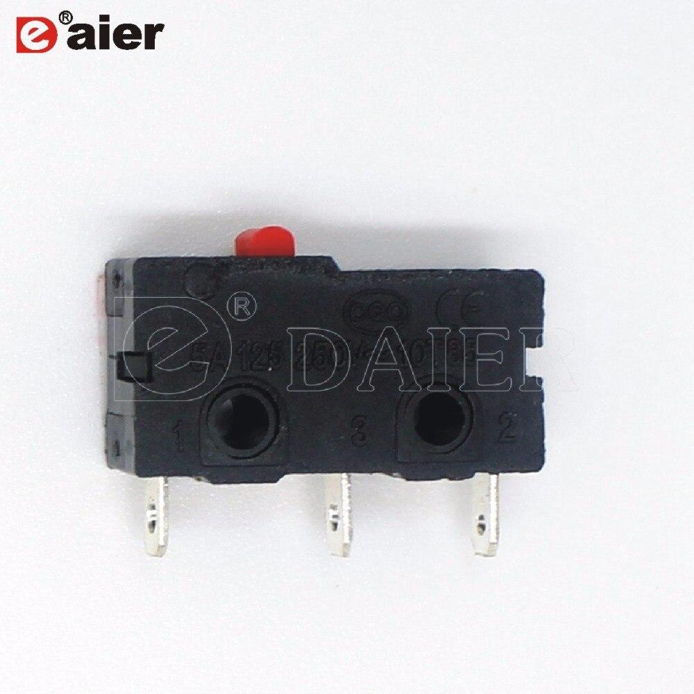 10 unids/lote negro microinterruptor KW4-Z1 SPDT interruptores miniatura No brazos de palanca interruptor de límite micro 3 Pin T85 Terminal de soldadura 5A 125VAC 150GF