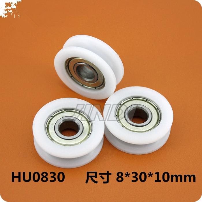 4 pcs 30mm Rodada Sulco Roldanas de Nylon do Rolo de levantamento para 3mm rope w/Rolamento 625ZZ