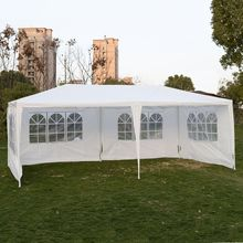 Goplus Outdoor 10 'X20 'Canopy Wedding Party Tenda Da Giardino Patio Gazebo Padiglione Cater Eventi 4 Fianco AP2067WH