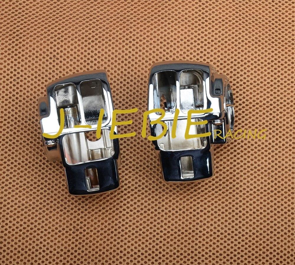 Cromo interruptor cubierta para Harley Electra Glide FLHTC camino deslizamiento FLHX FLTRX