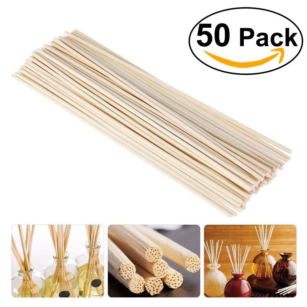50Pk Premium weiß Rattan Reed Duft Diffusor Ersatz Refill Sticks 300mm * 3,5 MM