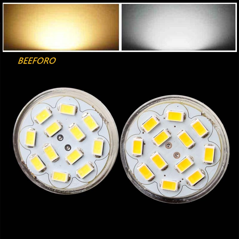 HRSOD 10X GU4 (MR11) 6W 5730 SMD 12 570 LM Natural blanco cálido blanco MR11 bombilla de foco LED DC 12 V led proyector llevó la lámpara