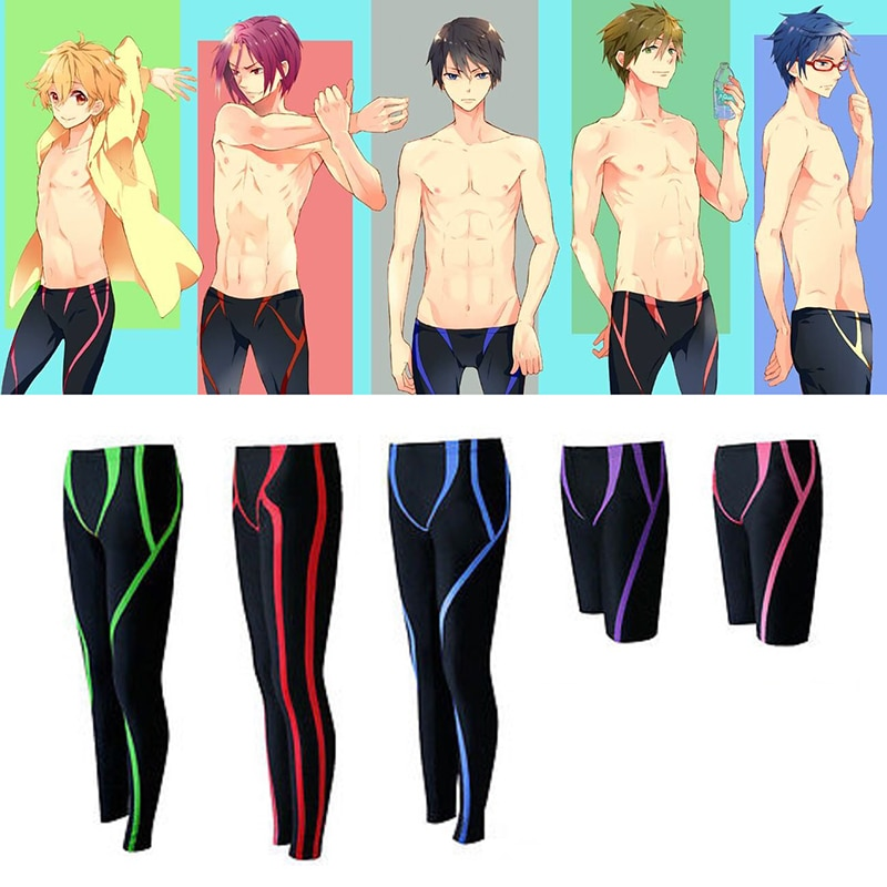 Traje de Cosplay Iwatobi Club de natación Unisex pantalones cortos traje de baño Haruka nanase Makoto Tachibana Rin Matsuoka bañadores de natación