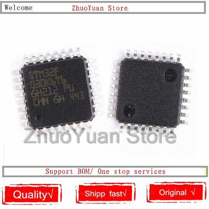 LQFP32 STM32F030 STM32F030K6T6 1 pçs/lote Novo original IC chip