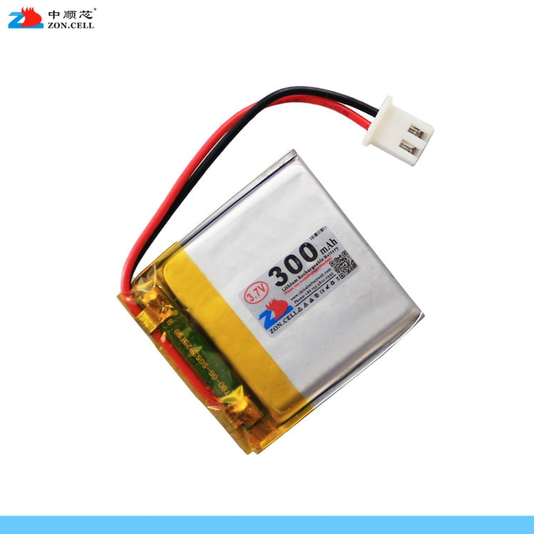 En el núcleo 300mAh 303030 3,7 V cinta para batería de polímero de litio dispositivo de lectura Pluma de negocios Bluetooth Célula de iones de litio recargable