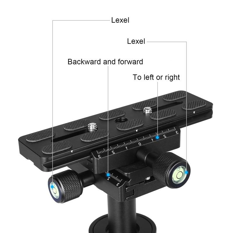 Estabilizador portátil de mano S40 estabilizador de cámara de vídeo estabilizadores con placa de liberación rápida para Canon Nikon Sony cámara GoPro ND998