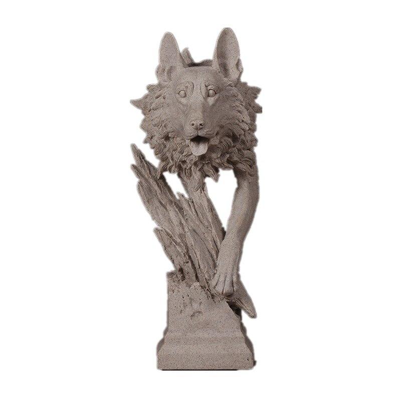 Gatos, la cabeza del oso elefante Lobo ovejas escultura Animal sala de piedra arenisca artesanía decoración del hogar R101