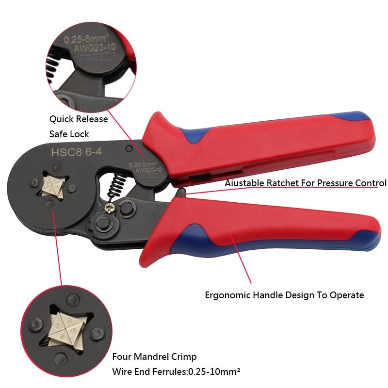 0,25–10 mm2 savireguliuojančios presavimo replės su 1200 laidų - Rankiniai įrankiai - Nuotrauka 5