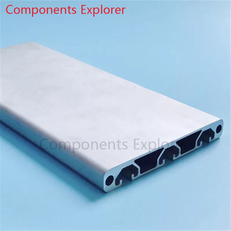 Corte arbitrario 1000mm 16120G perfil de extrusión de aluminio, Color plateado.