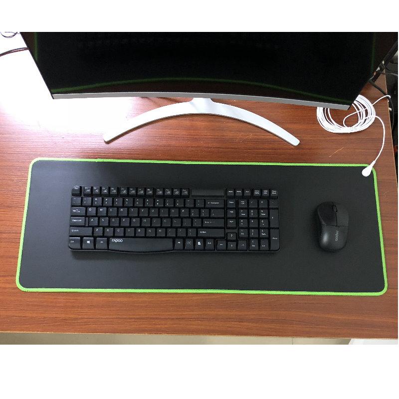Tapete de mesa aterrado para escritório casa trabalho computador mouse almofada universal 68*26cm com terra cabo de aterramento