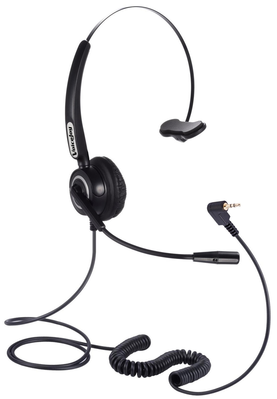 Gran promoción, auriculares con enchufe de 2,5mm, micrófono con cancelación de ruido para teléfonos C ISCO Linksys spa Polycom Grandstream Zultys & Gigaset