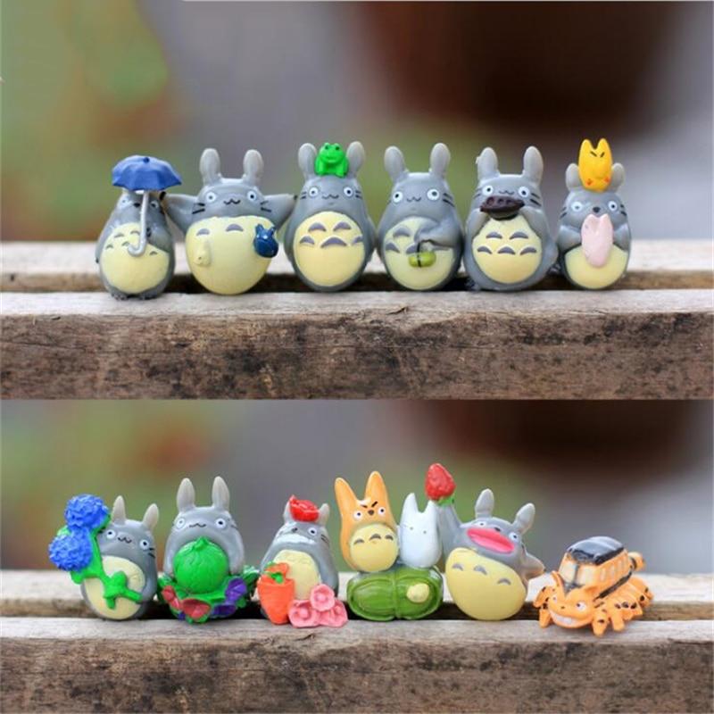 12pcs Studio Ghibli Figure Hayao Miyazaki Totoro toys Garden Decoration Miniatures Terrarium Figurines Anime Action Figures Toys