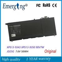 7 6 v 56Wh Neue Original Laptop Batterie fur Dell XPS13-9343 XPS13 9350 90V7W JD25G DIN02 P54G
