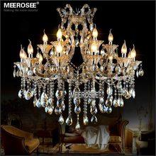 Maria Theresa Lustre en cristal lumière Cognac LED Lustre en cristal 18 lampe pour hall descalier couloir projet MD2225