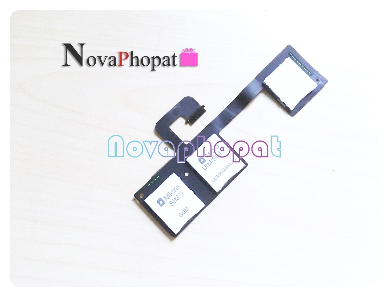 Novaphopat For HTC One M7 Dual SIM Card Tray And Memory SD Card Holder Flex Cable Replacement Parts
