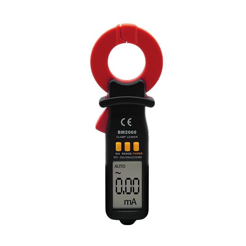 مقياس المشبك الرقمي لاختبار التسرب الاحترافي SZBJ BM2060 ، مقياس الدقة للتيار الدقيق إلى 0.01A