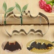 Halloween gâteau moule emporte-pièce outils 3D Bat acier inoxydable emporte-pièce ensemble pain dépice gâteau Biscuit moule Fondant Cutter