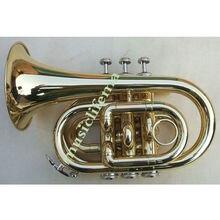 Nouvelle poche à PISTON MONEL plaqué or MINI trompette Bb